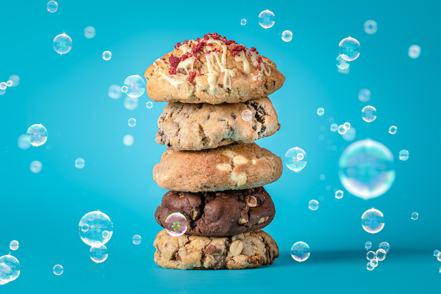cookies stacked food photography