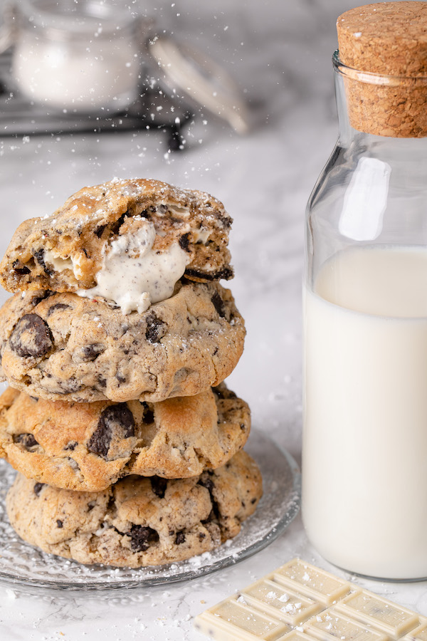 cookies and milk food photography